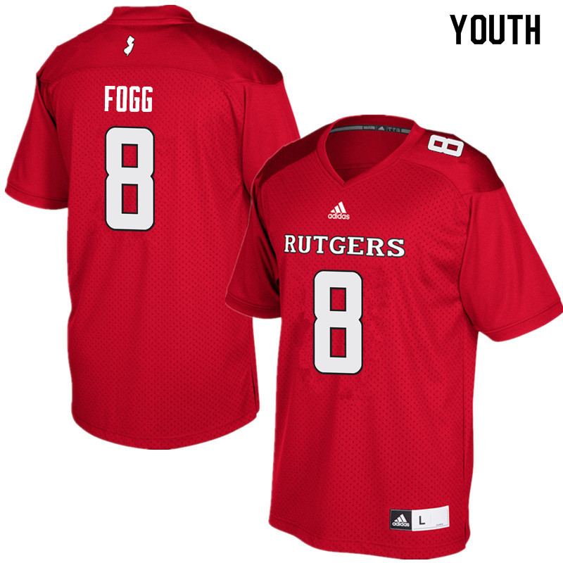 Youth #8 Tyshon Fogg Rutgers Scarlet Knights College Football Jerseys Sale-Red