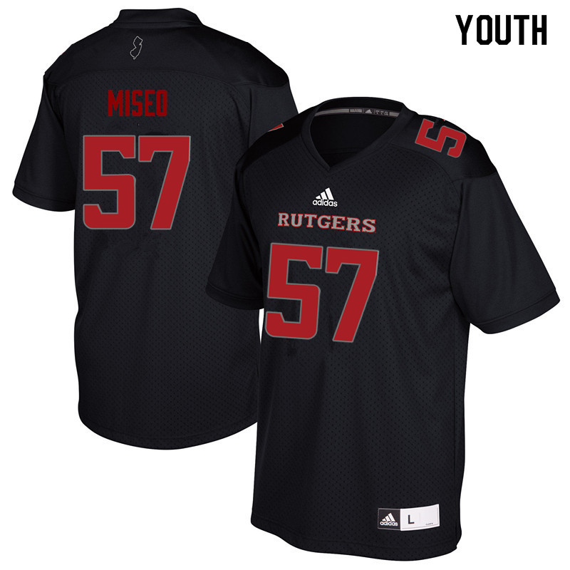 Youth #57 Zach Miseo Rutgers Scarlet Knights College Football Jerseys Sale-Black